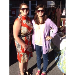 Here's me & Emily at the market in Sept 2013!