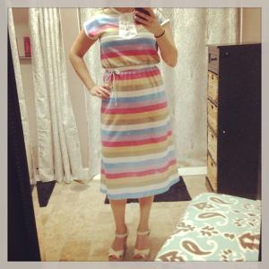 This rainbow dress remains one of my favorites!