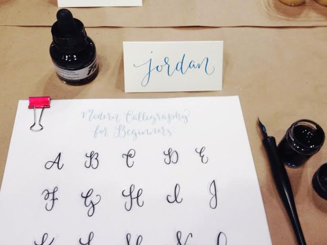 caligraphy set up