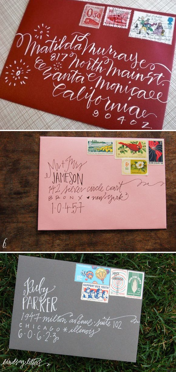 Aren't these envelopes just precious? {Click the image to be taken to the source}