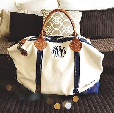 How about the Monogrammed Sunshine Satchel Duffle Bag!
