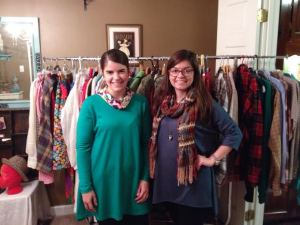 Fangirl moment: I got to meet Addie last week & she's quickly become one of my favorite people! This is a picture of us at a shop-in on Sunday - I couldn't wait to show her my 2nd version of the Canny (pictured here) - AND check out her tunic: it's another pattern she's working on that I'm anxiously awaiting trying out!!