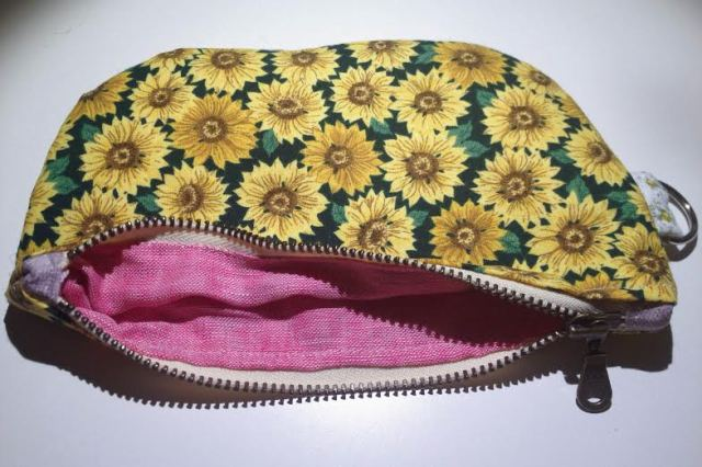 sunflower pouch