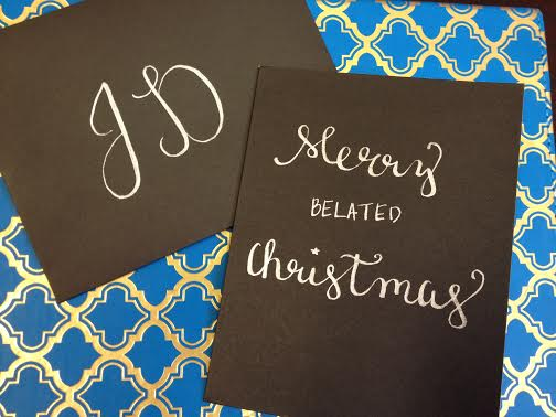 you really can't beat silver and black - it makes even a super late Christmas card look chic.