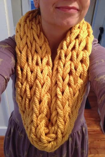 kt arm knit scarf