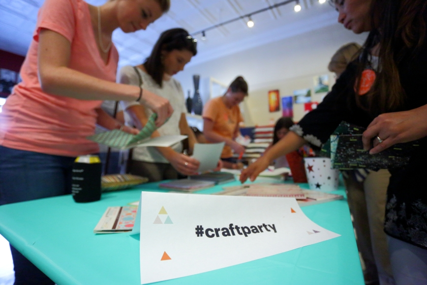 #CraftParty table pic