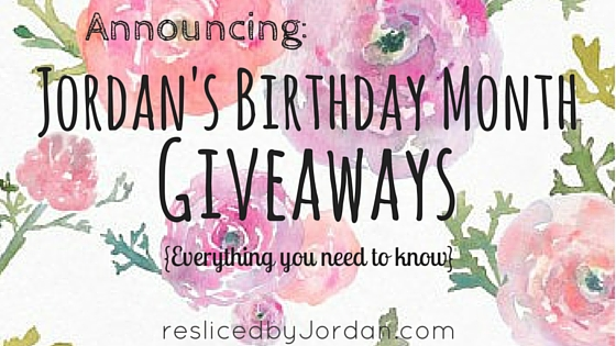 Birthday Month Giveaway Announcement