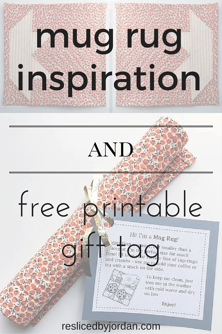 Mug Rug Inspiration and Free Gift Tag