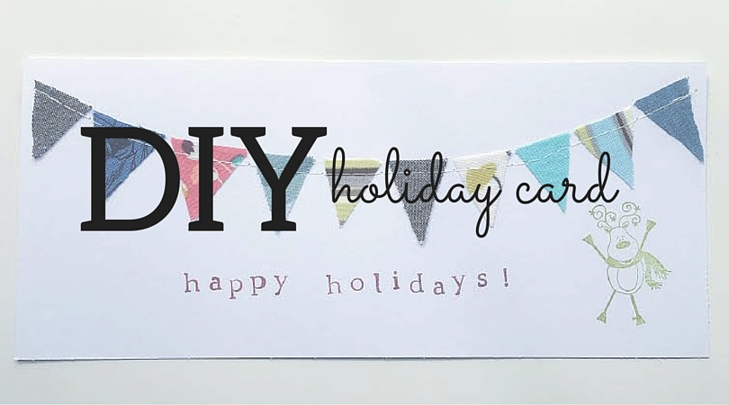 DIY Fabric Scrap Holiday Card