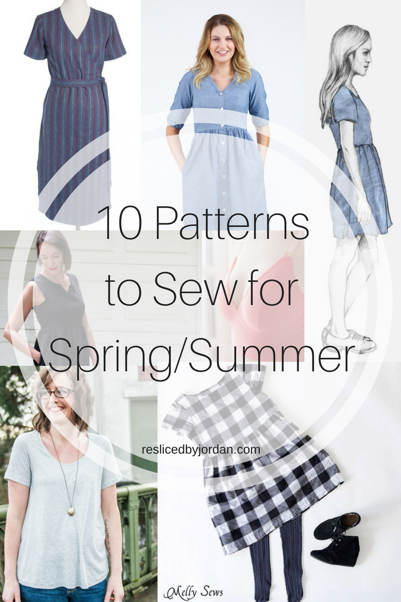 Sewing Wish List: 10 Patterns for Spring/Summer | resliced by Jordan