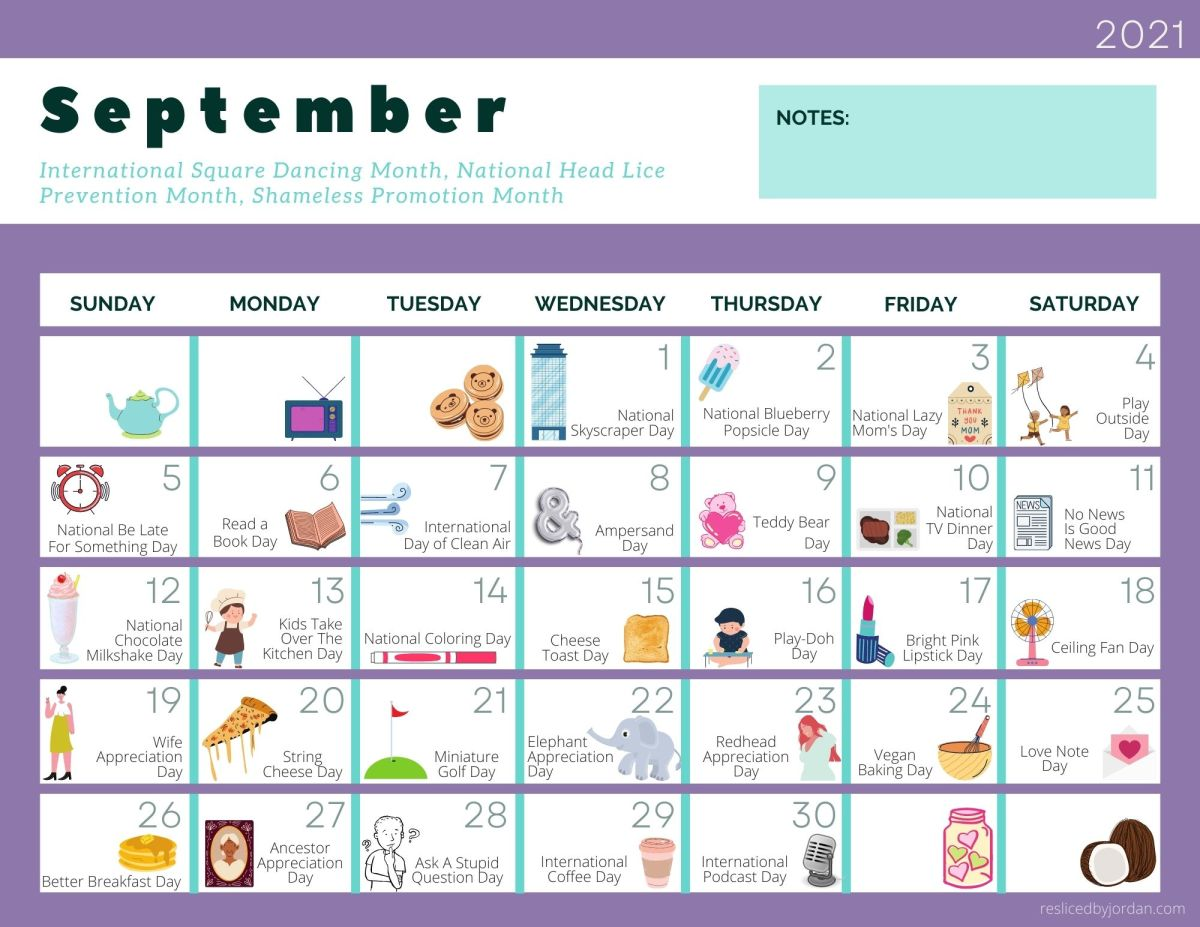 A FREE Printable Calendar for September Full of Entirely RidiculousHolidays